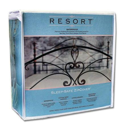 Sleep Safe Zipcover Resort Waterproof Bed Bug  Dust Mite  And Allergen Proof Mattress Encasement   Allergy Protector Zippered Cover   King 9 Inches