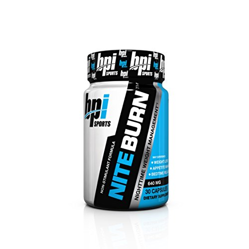 BPI Sports Nite Burn Nighttime Weight Management Formula, 640 MG, 30-Count