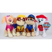 "Paw Patrol Plush Pup Pal 4 Pcs Character Plush Set Marshall Chase Rubble Skye 8"" Plush Doll, paw patrol plush doll, 4pc set By Nickelodeon"