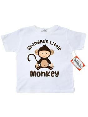 2f5a47ad9 Product Image Inktastic Grandpas Little Monkey Toddler T-Shirt Grandpa  Grandchild Grandkids Grandfather Fathers Day Tees.