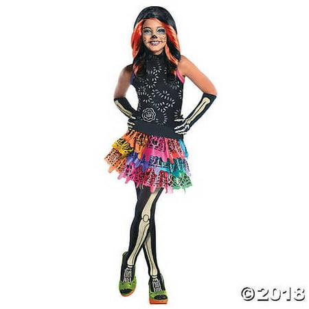 Girl's Monster High™ Skelta Calaveras Costume - Medium (Calavera Costume)