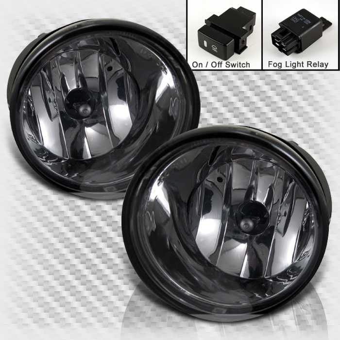 Smoked 2005-2007 Armada 2004-2014 Titan Bumper Fog Lights+Switch+Bulb+Wires Set 2006 Pair Left+Right