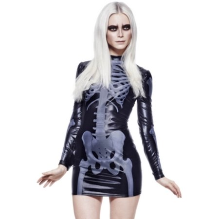 Miss Whiplash Skeleton Costume 43837 by Smiffys Black](Halloween Costumes Smiffys)