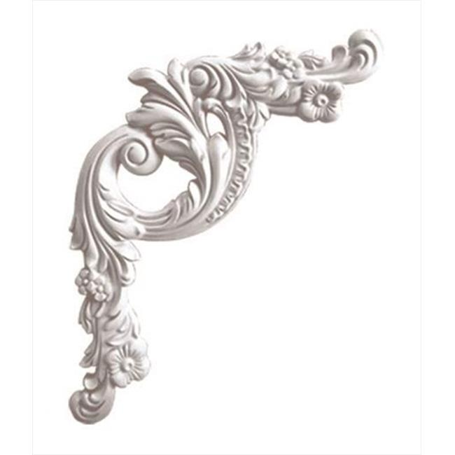 American Pro Decor 5APD10152 16 x 18 in. Floral Panel Moulding Corner