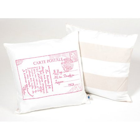 Atelier  Dele Postal Card Kid Cotton Throw Pillow