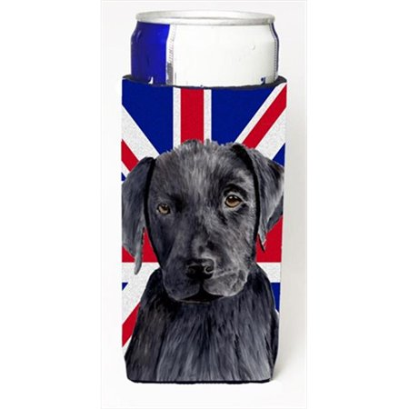 Labrador With English Union Jack British Flag Michelob Ultra bottle sleeves For Slim Cans - 12 Oz. - image 1 de 1