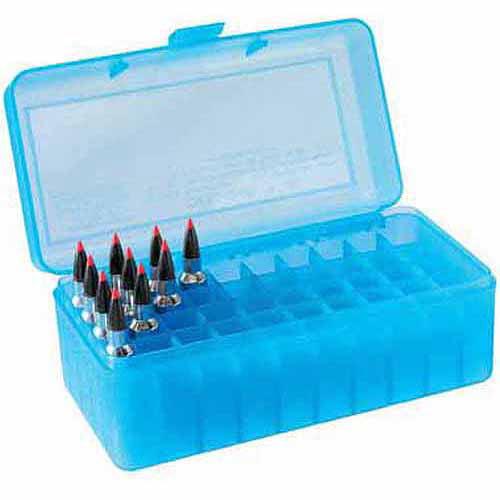 MTM RL Flip Top, 50-Round Ammo Case, Blue