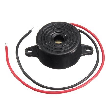 Piezo Shock Sensor - 6pcs 3-24V Piezo Electronic Buzzer Alarm Continuous Sound Beep w/ Mounting Hole Black Tone