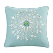 Echo Sardinia 18-Inch by 18-Inch Polyester Fill Pillow, Ease, Blue