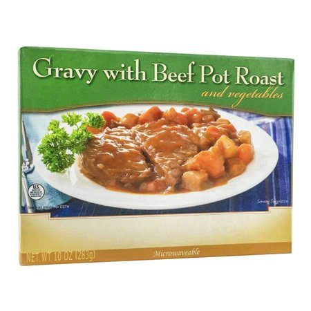 BariatricPal Microwavable Single Serve Protein Entree - Pot Roast with Gravy and Veggies - Halloween Food Entrees