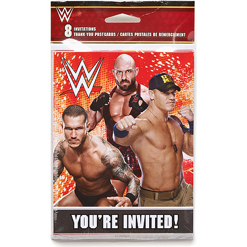 WWE Party Invite and Thank You Combo, 8ct