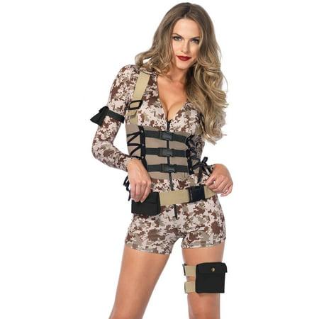 Leg Avenue Adult Battlefield Babe 4-Piece Costume (Barbarian Babe Halloween Costume)