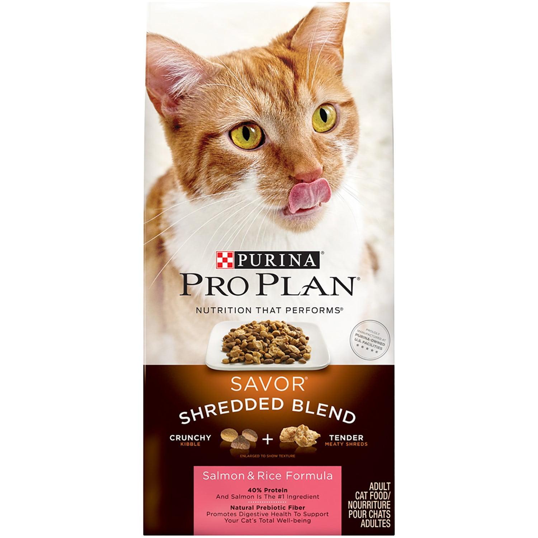 Purina Pro Plan SAVOR Shredded Blend Salmon & Rice Formula Adult Dry Cat Food - 3.2 lb. Bag