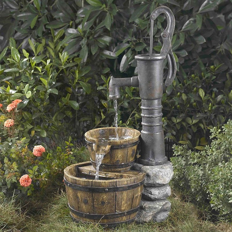 Old Fashion Water Pump Outdoor Fountain by Fountains