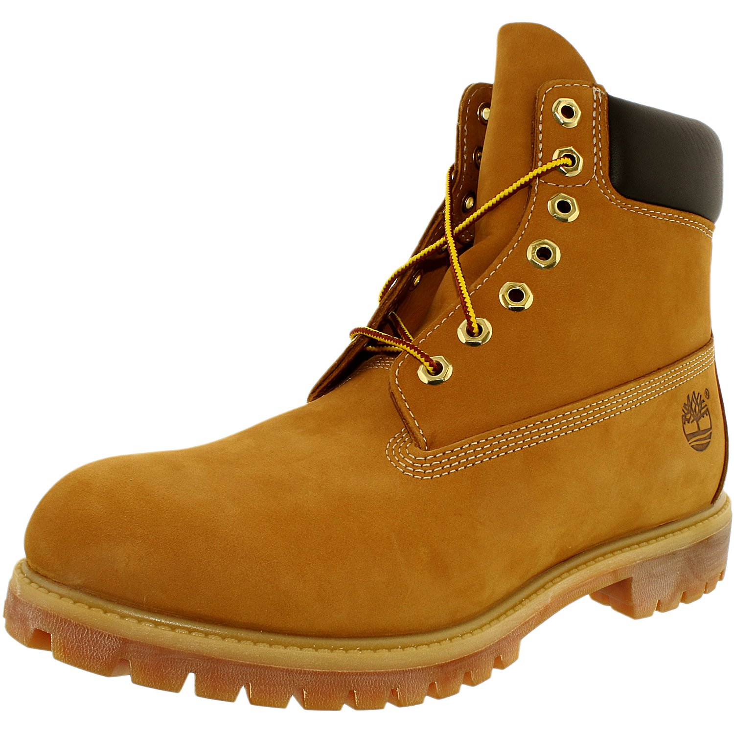 Timberland Men's 6 Inch Premium Boot Leather Wheat Yellow Ankle-High Leather Boot - 12W