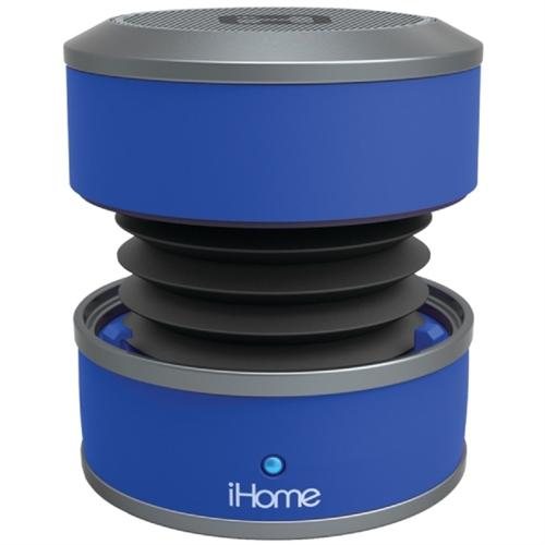iHome Bluetooth Rechargeable Mini Speaker System in Rubberized Finish