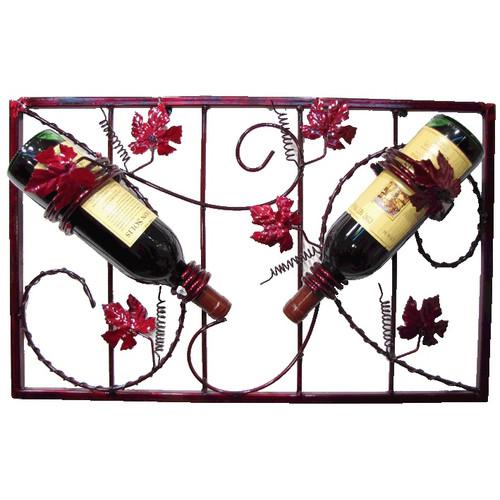Metrotex Designs French Vineyard 2 Bottle Wall Mounted Wine Rack