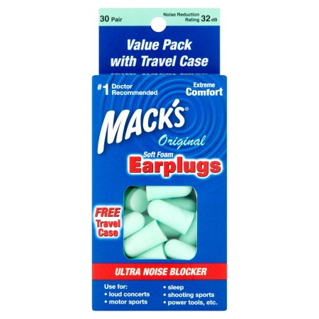 (2 Pack) Mack's Original Soft Foam Earplugs 30 Pair