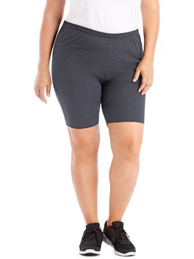 dc8bdf26f624f Product Image Just My Size Women's Plus-Size Stretch Jersey Bike Short