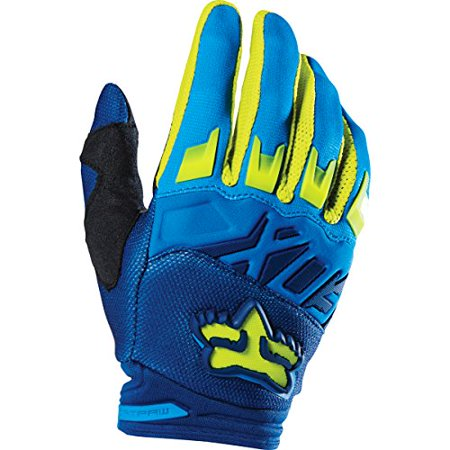 (Fox Racing 2016 Dirtpaw Race Men's MotoX Motorcycle Gloves - Blue/Yellow / Large)