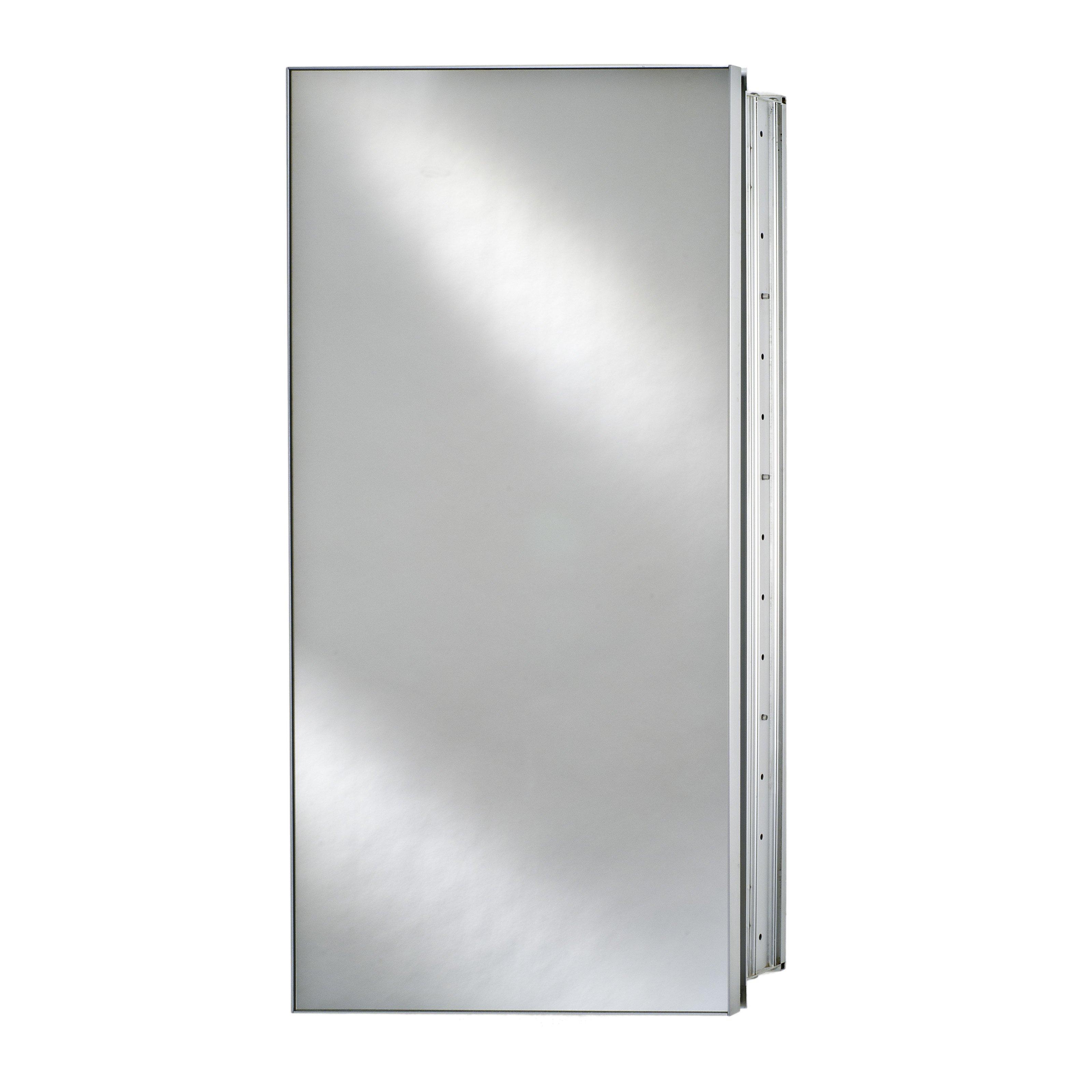Afina Broadway Surface Mount Single Door Medicine Cabinet - 24W x 4D x 30H in.