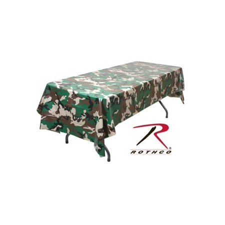 Rothco Woodland Camo Tablecloth](Camouflage Tablecloths)