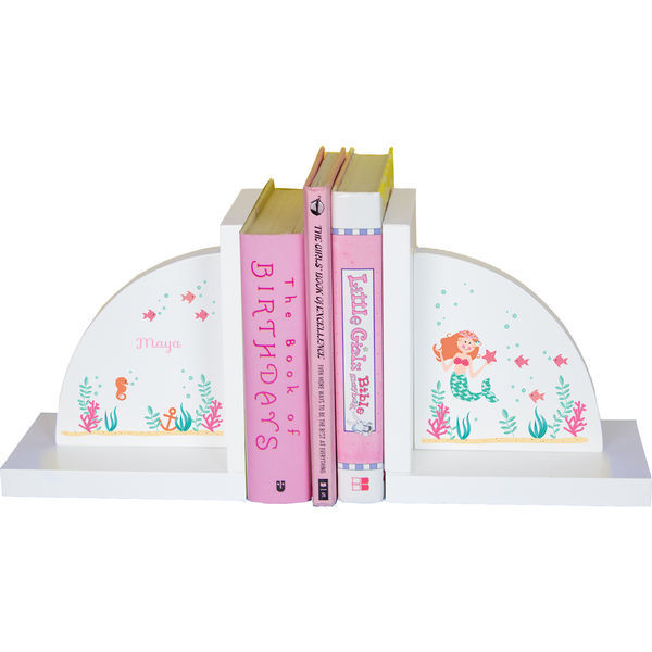 Personalized Mermaid Princess Childrens Bookends