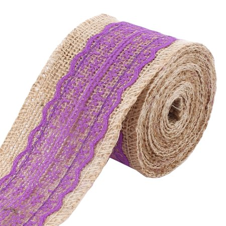 Christmas Burlap DIY Gift Wrapping Ornament Craft Ribbon Roll Tape Purple ()