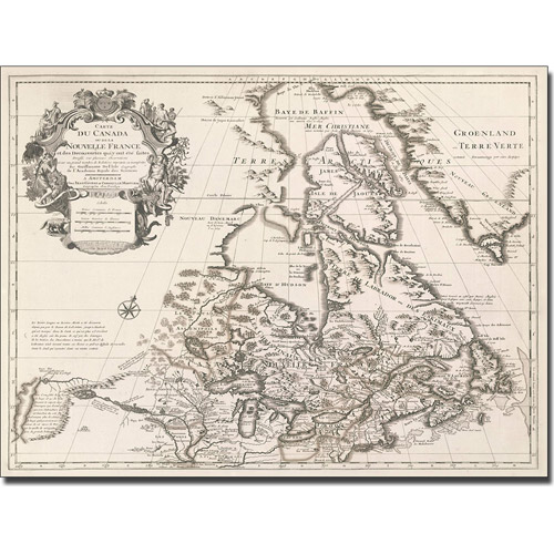 Trademark Art 'Map of Canada or New France' Canvas Art by Guillaume Delisle