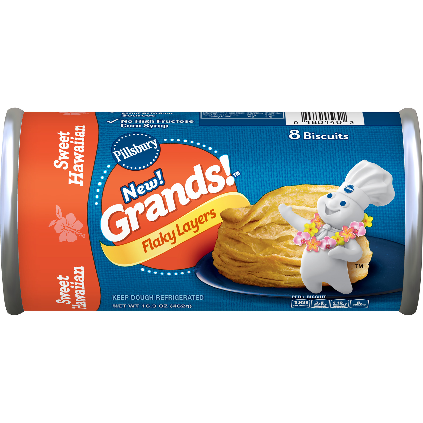 Pillsbury Sweet Hawaiian Flaky Grands! Biscuit 8 ct, 16.3 oz