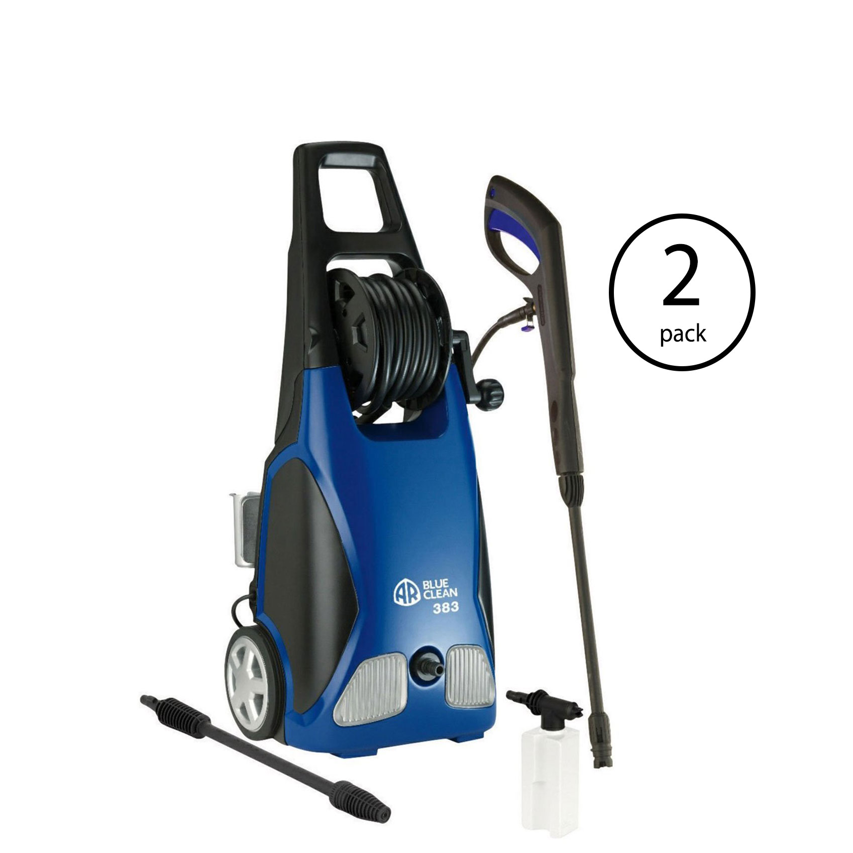 AR Blue Clean 1900 PSI 1.5 GPM Electric Pressure Washer with Spray Kit (2 Pack)
