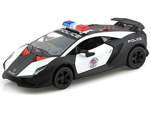 "5"" Kinsmart Lamborghini Sesto Elemento Police Car Diecast Model Toy 1:38 by"