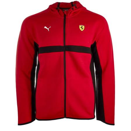 Puma Scuderia Ferrari Hooded Sweat Jacket - F Rosso Corsa - Mens - (Ferrari Jacket For Men)