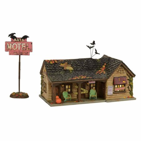 Dept 56 Halloween Village 4056705 Bat's Motel 2017 - Halloween 2017 Vhs