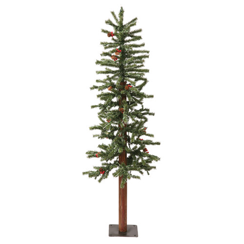 Vickerman 3' Green Alpine Berry Artificial Christmas Tree with 100 LED White Lights and Frosted