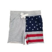 OshKosh B'gosh Infant Boys Gray Knit US Flag Shorts 12-18 Months