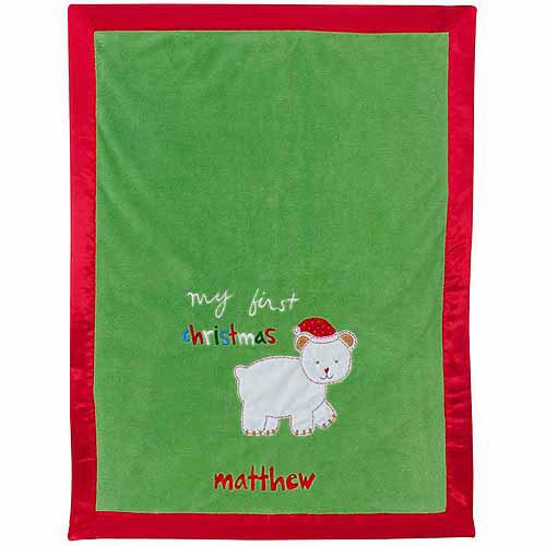 Personalized Sandra Magsamen My First Christmas Blanket
