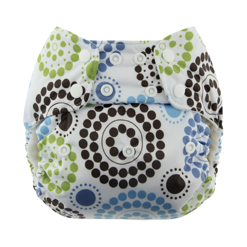 Blueberry One Size Deluxe Pocket Diaper Snap - Round-About