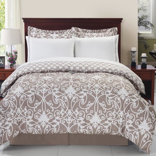 Cathay Home, Inc Printed Vines Comforter Set