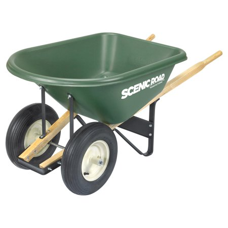 Scenic Lane Dual Wheel 6 Cube Wheelbarrow - 400 lb Capacity