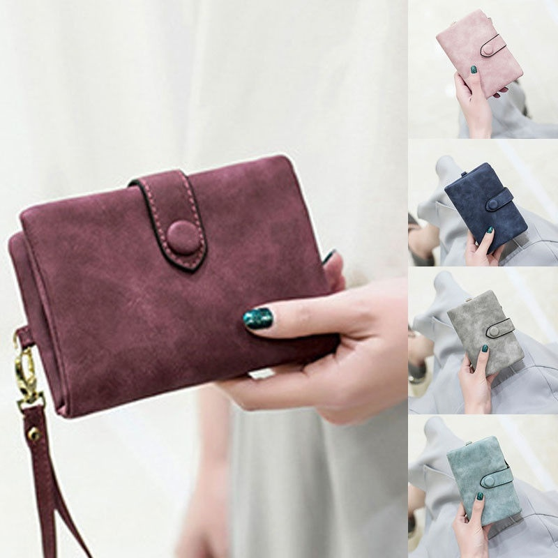 Small Wallet Womens Leather Card Coin Money Holder Ladies Purse Clutch Handbag ~