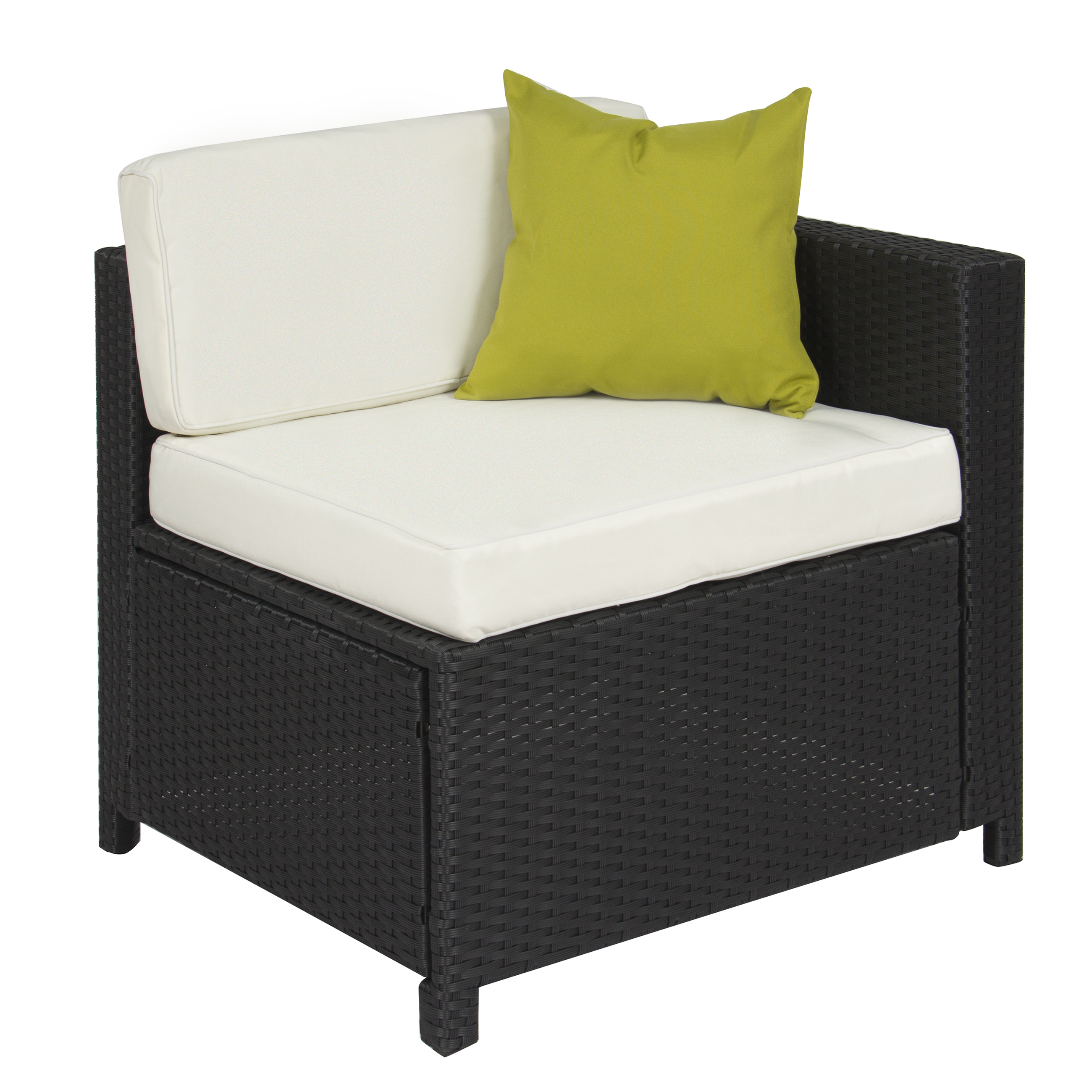 Outdoor Patio Furniture Cushioned 5PC Rattan Wicker Aluminum Frame Sectional  Sofa Set   Walmart.com