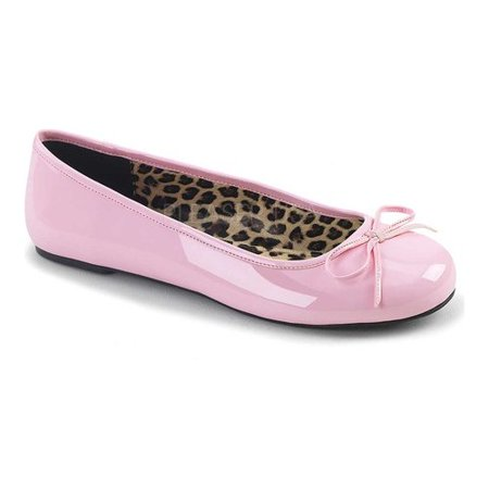 Women's Pleaser Pink Label Anna 01 Ballet Flat - Shoes Pleaser