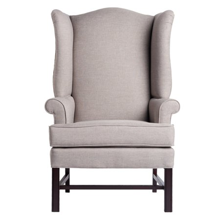Comfort pointe chippendale wing chair for Comfortable wingback chair