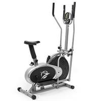 Plasma Fit Elliptical Machine Cross Trainer 2 in 1 Exercise Bike Cardio Fitness Home Gym Equipment