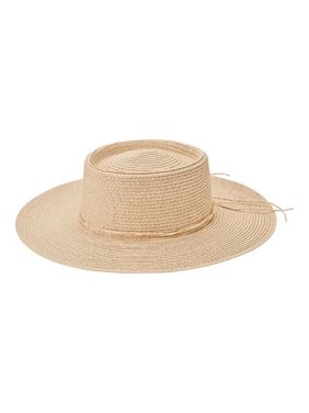 Women's San Diego Hat Company Paper Large Brim Oval Crown Boater PBF7345