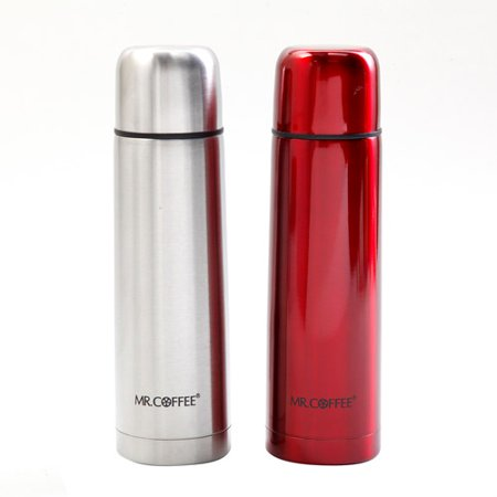 Mr. Coffee Javelin 17-Ounce Travel Thermal Bottle, 2-Pack