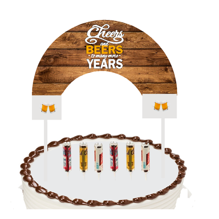 Cake / Food / Cupcake / Desert Decoration Banner Decorating Topper Kit Cheers and Beers](Food Lion Cake Prices)