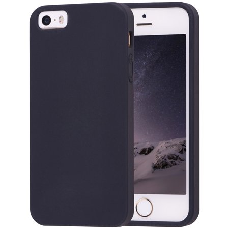 best service 5003f 13eb2 Onn Lightweight Slim Protective Case for iPhone 5/5S/SE, Black