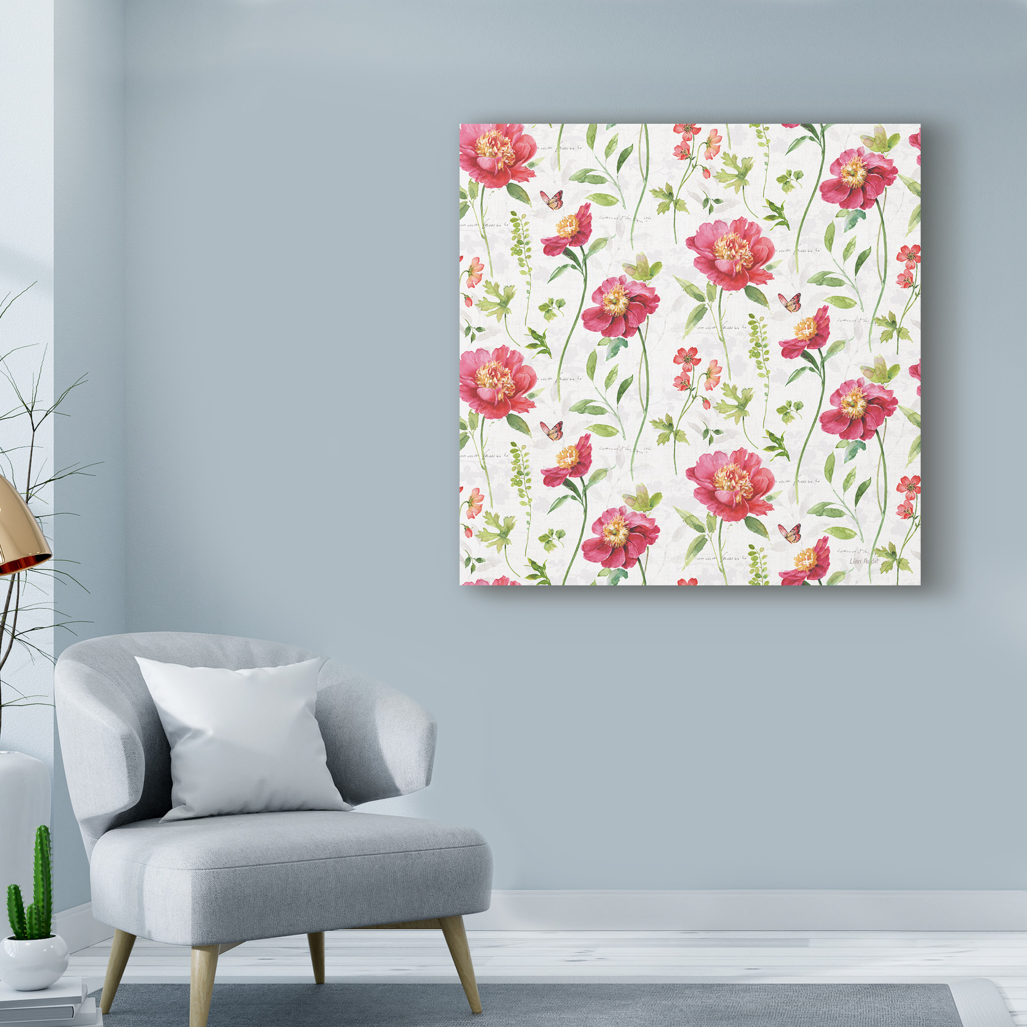 Trademark Fine Art 'Pink Garden Step 01' Canvas Art by Lisa Audit